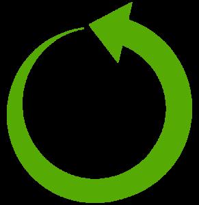 Kleine groene refresh pijl