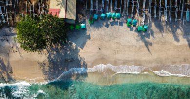 Bali luchtfoto strand